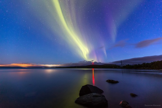 Northern lights in the sky over Murmansk region, Russia, photo 14