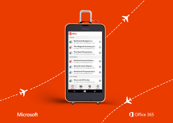 Office version for Windows Phone and Iphone will look the same