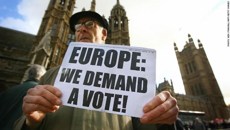 anti europe protest