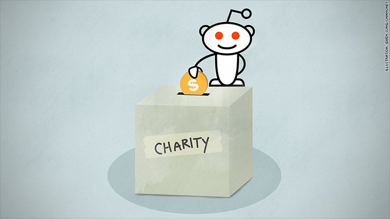 reddit charity donations