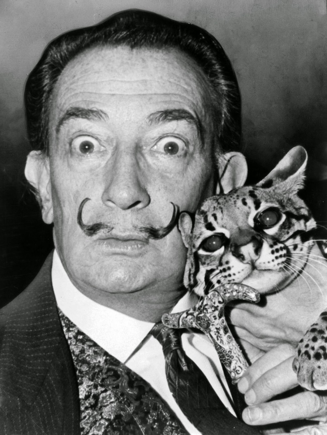 Behind Every Great Man There Is A Great... Cat