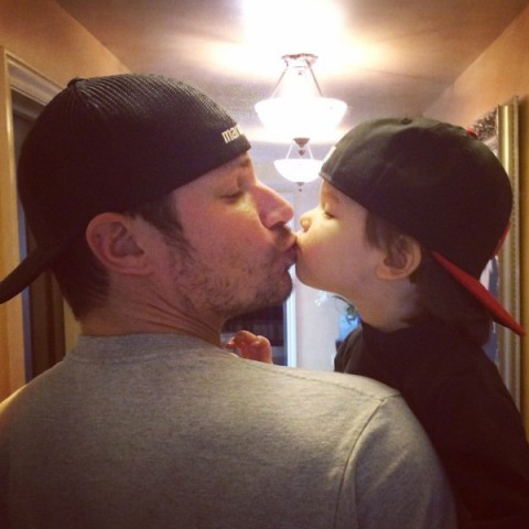 Adorable Alert! Nick Lachey and Camden Smooch in Sweet Father-Son Snapshot