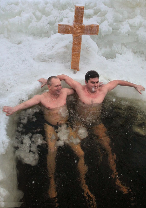 Bathing in ice-cold water on Epiphany