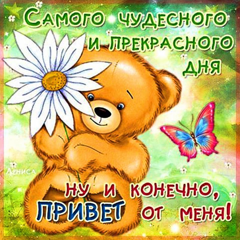 Украина, открытка всем привет и удачного дня и настроения