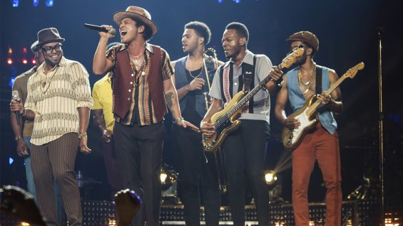 Red Hot Chili Peppers' Flea and Anthony Kiedis Host Music Conservatory Benefit, Bruno Mars Performs