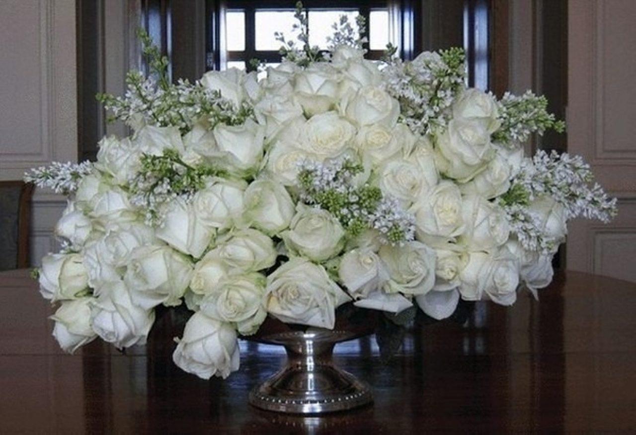 Открытка, открытки с днем рождения белые розы