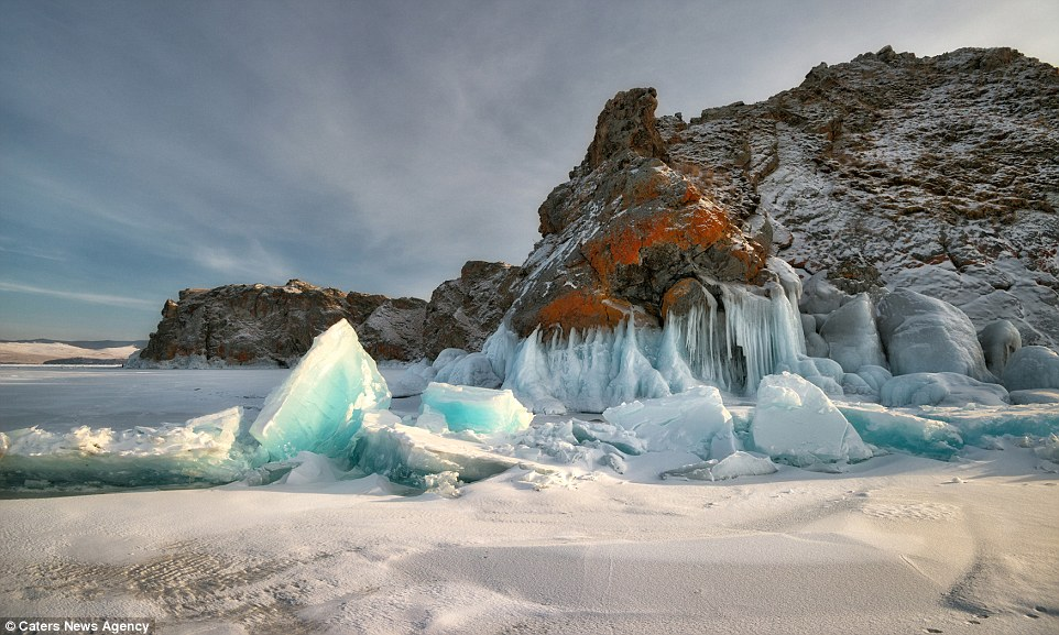 Breathtaking images of magical ice cavern at Baikal